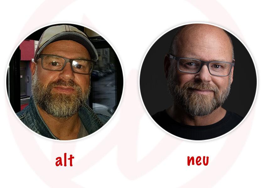 Vergleich altes vs. neues Profilbild Marcus